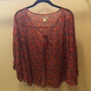 NWT. Sheer open blouse.